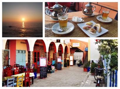 """Essaouira - L'ora del the: """" Vuoi che partiamo subito per la nostra avventura"""" domando Peter Pan, """"o preferisci prendere il tè?"""". """"Prima il tè"""", rispose Wendy""""."""